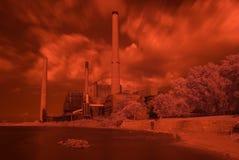 Central eléctrica roja de Infa Fotos de archivo