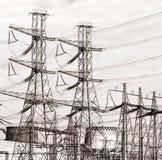 Central electrica Imagen de archivo libre de regalías