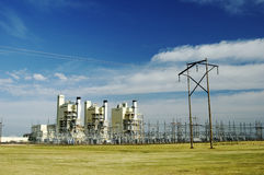 Central electrica Foto de archivo libre de regalías