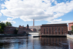 Central elétrica de Tammerkoski Foto de Stock
