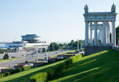 The central embankment in Volgograd city Stock Photos