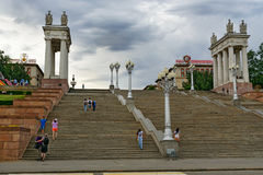 Central embankment in Volgograd Stock Photos