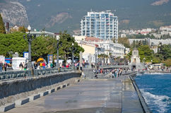 Central embankment in Yalta Stock Photo