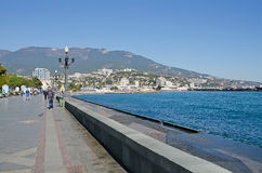 Central embankment in Yalta Royalty Free Stock Photography