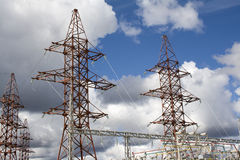 Central energética Foto de Stock