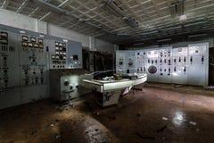 Central energética abandonada Fotografia de Stock Royalty Free