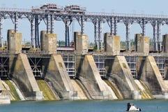 Central energética bombeada Hydroelectric do armazenamento fotos de stock royalty free