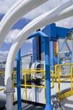 Central energética com encanamento foto de stock