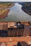 Central energética de Itaipu Hydroeletric Foto de Stock Royalty Free