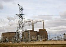Central energética elétrica Foto de Stock Royalty Free