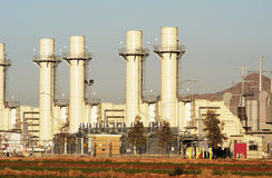 Central energética elétrica Imagem de Stock Royalty Free