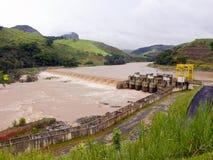 Central energética elétrica de Hidro Imagem de Stock