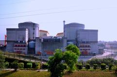 Central energética elétrica nuclear Imagens de Stock