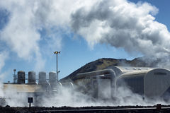 Central energética Geothermal Imagem de Stock Royalty Free