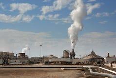 Central energética Geothermal fotos de stock