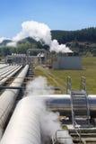 A central energética Geothermal conduz a perspectiva fotos de stock royalty free
