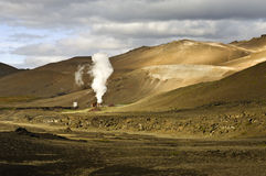 Central energética Geothermal de Krafla Fotografia de Stock Royalty Free
