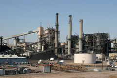 Central energética industrial Fotos de Stock