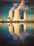 Central energética nuclear. Fotografia de Stock