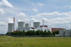 Central energética nuclear Imagens de Stock