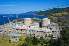 Central energética nuclear abandonada Foto de Stock