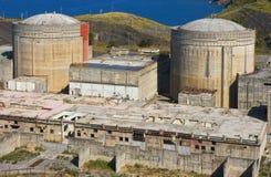 Central energética nuclear abandonada Fotografia de Stock