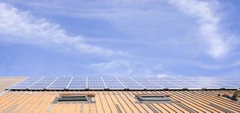 Central energética solar foto de stock royalty free