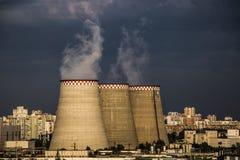 Central energética térmica fotografia de stock