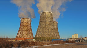Central energética térmica Foto de Stock