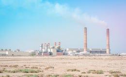 Central energética térmica Fotografia de Stock Royalty Free