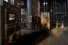 Central energética velha imagens de stock royalty free