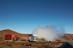 Central energética Geothermal, Islândia Imagens de Stock