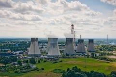 Central energética nuclear Imagem de Stock Royalty Free