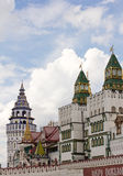 Central entrance to the Kremlin Bridge Izmailovo Stock Images