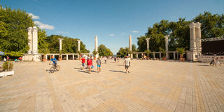 The central entrance to Seaside Park in Varna in Bulgaria Stock Photography