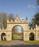 Central entrances to Redbourne Hall Estate. Royalty Free Stock Photos