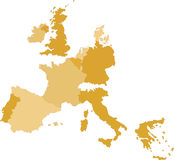 Central Europe Map Royalty Free Stock Image