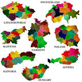 Central Europe maps Stock Photo