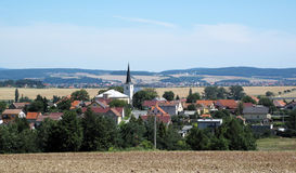 Central european landscape. Photo of typical central european landscape in hot summer weather Stock Image