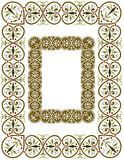 Central European style abstract border. Frame or border design in florid abstract swirls and flourishes Royalty Free Stock Photography