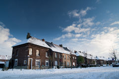 Central european village under snow Royalty Free Stock Images
