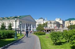 The Central exhibition hall Manege in Moscow, Russia Royalty Free Stock Photo