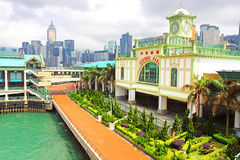 Central Ferry Pier on Hong Kong Island. Stock Image