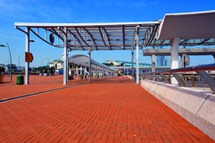 The central ferry pier, hong kong. Walkway leading to the central ferry pier, hong kong Stock Image