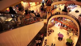Central festival big mall, department store in Asia. Chiang mai, Thailand - 10 August 2014 - Central festival big mall, department store in Asia stock footage