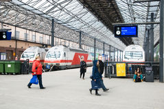 central finland helsinki järnvägstation Arkivfoton
