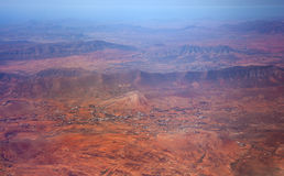 Central Fuerteventura from the air Royalty Free Stock Photography