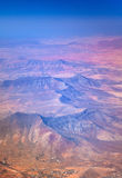 Central Fuerteventura from the air Royalty Free Stock Image