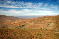 Central Fuerteventura, Canary Islands, view north from Mirador de Guise y Ayose Stock Photo