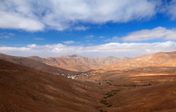 Central Fuerteventura, valley of Betancuria Royalty Free Stock Images
